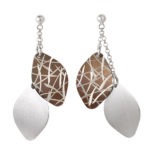 Bamboo Pattern Dangling Earrings