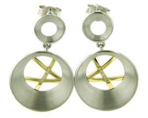 Sterling Silver Gold Earrings