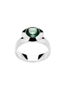Sterling Silver Green Topaz Ring