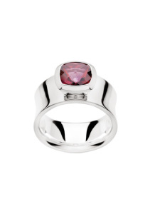 Sterling Silver Red Topaz Ring