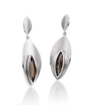 Sterling Silver Smoky Quartz Dangling Earrings